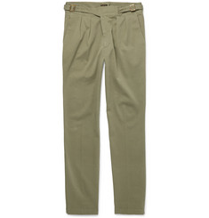 Rubinacci - Washed Stretch-Cotton Twill Trousers
