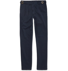 Rubinacci Washed Stretch-Cotton Twill Trousers