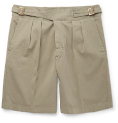 Rubinacci Manny Washed Stretch-Cotton Bermuda Shorts