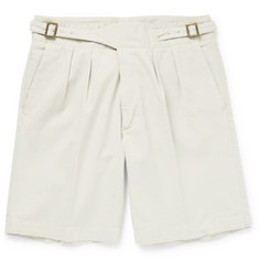 Rubinacci Manny Washed-Cotton Bermuda Shorts