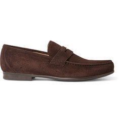 Harrys of London James R Suede Penny Loafers
