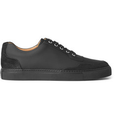 Harrys of London Mr. Jones 2 Suede-Panelled Matte-Leather Sneakers