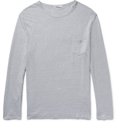 Onia Chad Slim-Fit Knitted Slub Linen T-Shirt