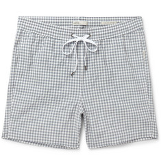 Onia - Charles Mid-Length Gingham Swim Shorts