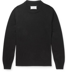 MR PORTER 5th ANNIVERSARY + Maison Margiela Suede-Trimmed Cashmere Sweater