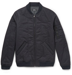 A.P.C. Padded Cotton-Blend Twill Bomber Jacket