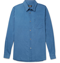 A.P.C. - Slim-Fit Indigo-Dyed Cotton Shirt