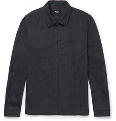 A.P.C. Cotton and Linen-Blend Zip-Up Shirt Jacket