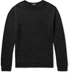 A.P.C. Loopback Slub Cotton-Blend Sweatshirt