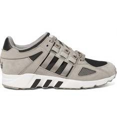 Adidas Originals Equipment Running Guidance 93 Nubuck, Leather and Mesh Sneakers
