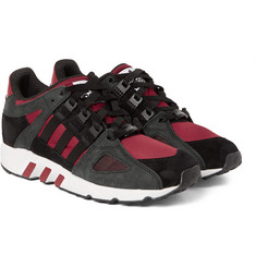 Adidas Originals - Equipment Running Guidance 93 Nubuck, Leather and Mesh Sneakers