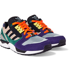 Adidas Originals - ZX 8000 Suede and Mesh Sneakers