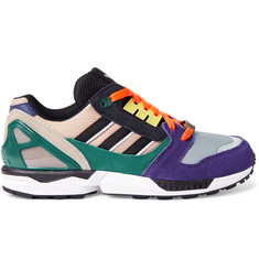 Adidas Originals ZX 8000 Suede and Mesh Sneakers