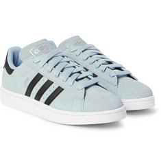 Adidas Originals - Campus Leather-Trimmed Suede Sneakers