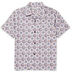Outerknown Printed Camp-Collar Organic Cotton and Hemp-Blend Shirt