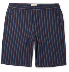 Oliver Spencer Striped Cotton Shorts