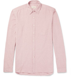 Oliver Spencer - New York Special Slim-Fit Cotton and Linen-Blend Shirt