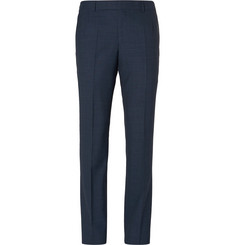 - Navy Slim-Fit Wool Suit Trousers