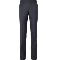 Gieves & Hawkes Navy Checked Wool Suit Trousers