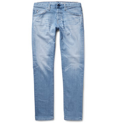 AG Jeans Nomad Slim-Fit Tapered Washed Selvedge Denim Jeans