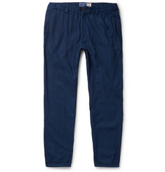 Blue Blue Japan Tapered Cotton-Dobby Trousers