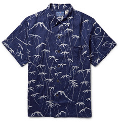 Blue Blue Japan Mt Fuji Printed Linen Shirt
