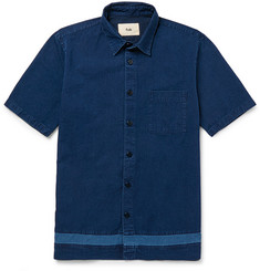 Folk Indigo-Dyed Cotton Shirt