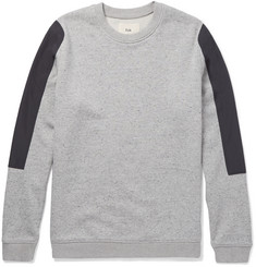 Folk Shell-Panelled Loopback Cotton-Jersey Sweatshirt
