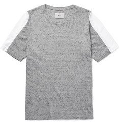 Folk Panelled Mélange Cotton-Jersey T-Shirt