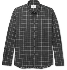 Folk Slim-Fit Plaid Cotton Shirt