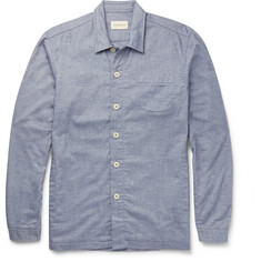 Oliver Spencer Loungewear Lux Cotton-Chambray Overshirt