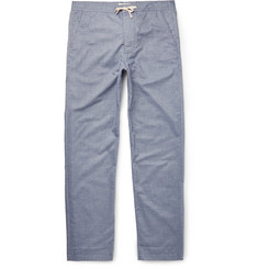Oliver Spencer Loungewear - Lux Cotton-Chambray Lounge Trousers