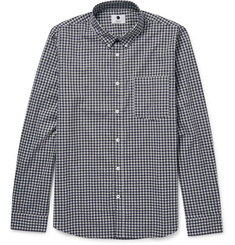 NN07 Falk Slim-Fit Button-Down Collar Gingham Cotton Shirt