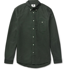NN07 New Derek Slim-Fit Button-Down Collar Cotton Oxford Shirt