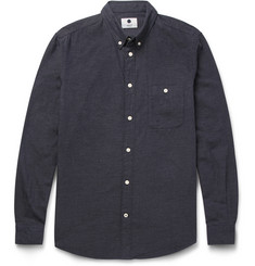 NN07 New Derek Slim-Fit Button-Down Collar Cotton Shirt