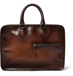 Berluti Un Jour Polished-Leather Briefcase