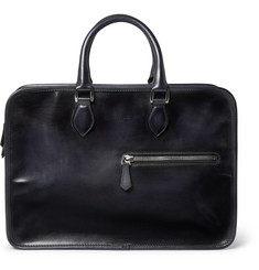 Berluti Un Jour Burnished-Leather Briefcase