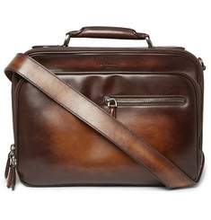 Berluti Gloria Burnished-Leather Briefcase