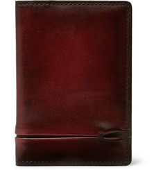 Berluti Jagua Burnished-Leather Bifold Cardholder
