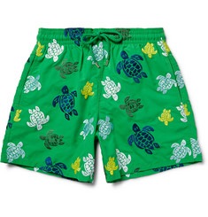 Vilebrequin Mistral Slim-Fit Mid-Length Turtle-Embroidered Swim Shorts