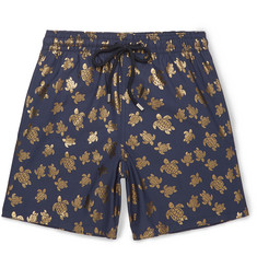 Vilebrequin - Moorea Mid-Length Metallic-Print Swim Shorts