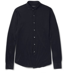 Berluti - Cutaway-Collar Cotton-Piqué Shirt