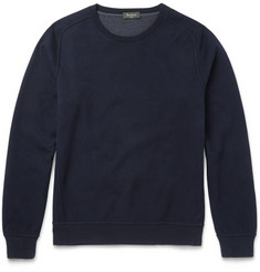 Berluti Double-Faced Brushed Cotton-Blend Jersey Sweatshirt
