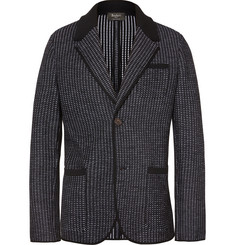 Berluti Black Unstructured Knitted Wool Blazer