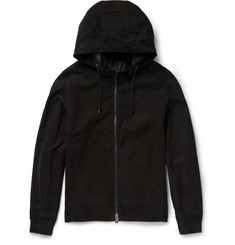 Berluti Slim-Fit Suede Hooded Bomber Jacket