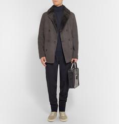 BerlutiDouble-Breasted Shearling Coat