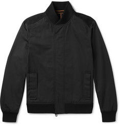 Berluti Nubuck-Trimmed Tech-Shell Bomber Jacket