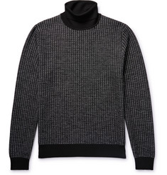 Berluti Textured-Knit Wool Rollneck Sweater