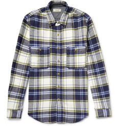 J.Crew - Wallace & Barnes Ennis Slim-Fit Checked Cotton-Flannel Shirt
