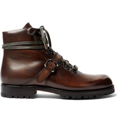 Berluti Brunico Polished Leather Boots